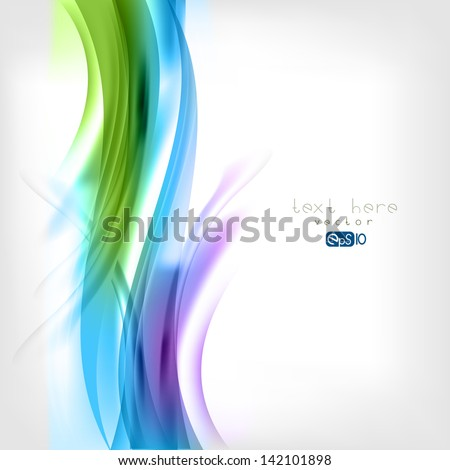 Stock Photo Abstract colored wave on background
