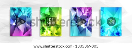 Abstract colorful and triangular background ready in eps 10 #1305369805