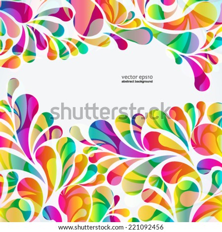 stock-vector-abstract-colorful-arc-drop-background-vector