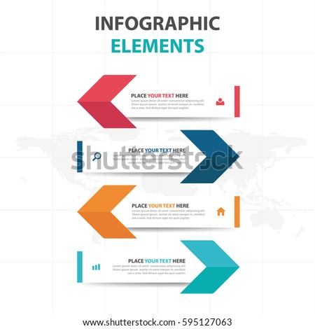 Abstract colorful arrow business Infographics elements, presentation template flat design vector illustration for web design marketing advertising