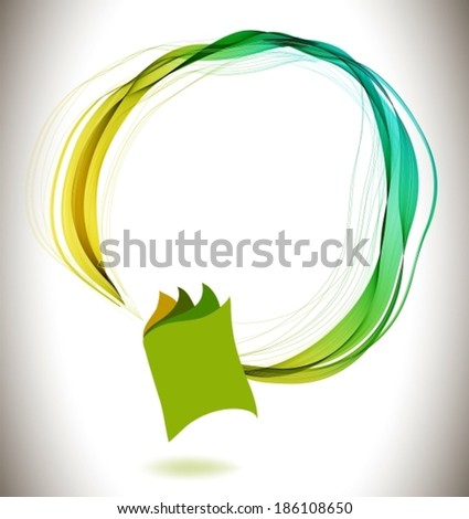 Abstract colorful background book icon and wave, education design, VECTOR