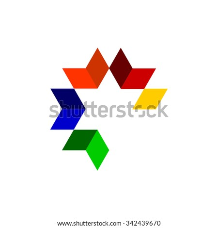 Abstract Colorful Background. Company Logo Design.