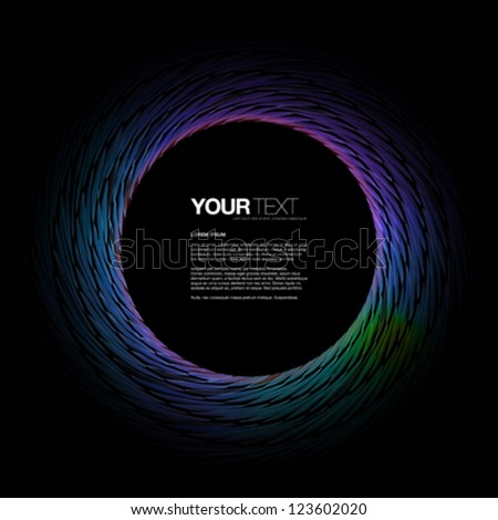 Abstract colorful background design with text