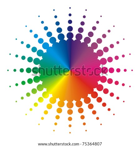 abstract colorful background in rainbow colors