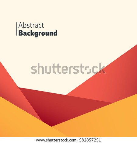 Abstract colorful background. Red & orange valley like shape. Perfect for canyon background or as it is for background.