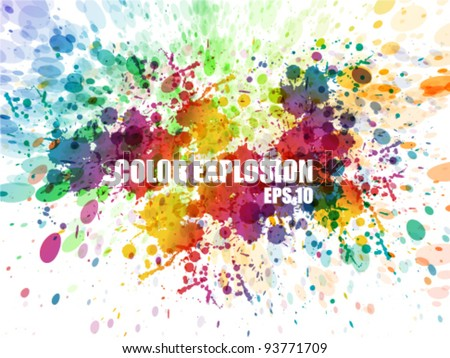 Abstract colorful background. Splash watercolor background illustration