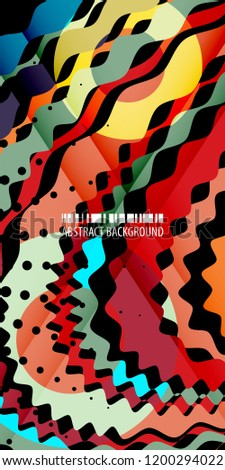 Abstract colorful background template with blended multiple bar shapes