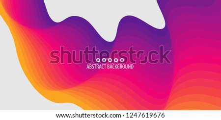 Abstract colorful background template with blended multiple discrete shapes