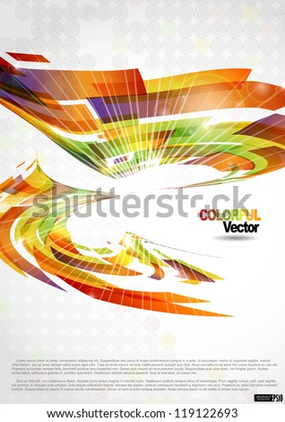 Abstract colorful background. Vector illustration. Eps 10.