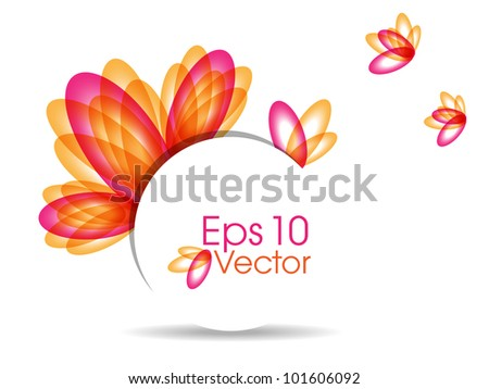 Abstract colorful  background with beautiful petals for text project used and copy space, isolated on white. EPS 10, vector illustration.