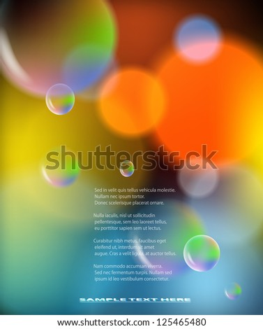 Abstract colorful background with bubbles. EPS10 vector illustration.