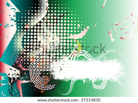 abstract colorful background with halftone pattern, space for your text