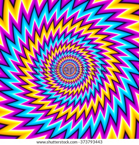 Abstract colorful background with optical expansion illusion