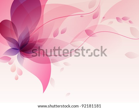 Abstract colorful background .with pink floral - stock vector
