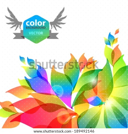 Abstract colorful background with place for text, VECTOR