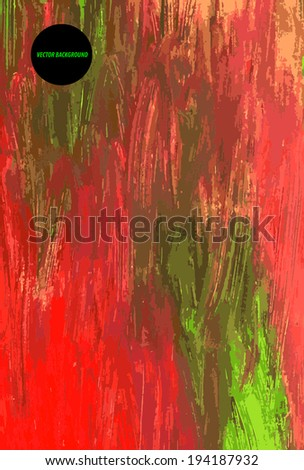 Abstract colorful background with splashes. Acrylic illustration, vector format.