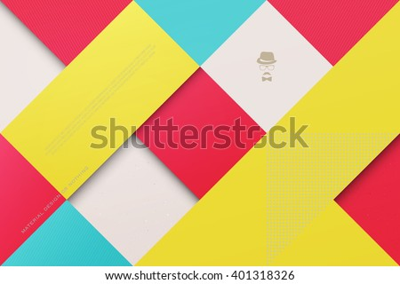 abstract, colorful background with square frames. vector geometric, fashion wallpaper template. material design backdrop. origami style, vector, business cards layout