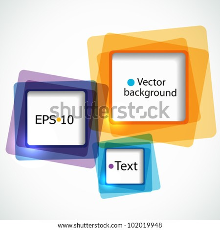 Abstract colorful background with squares