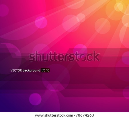 Abstract colorful background with sun and place for your text. - stock vector