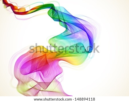 Abstract colorful background with wave, illustration for design, VECTOR