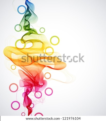 Abstract colorful background with wave, vector illustration for design
