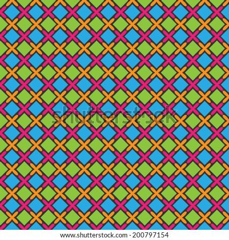 Abstract Colorful Batik Pattern Vector
