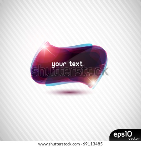 Abstract colorful black speech bubble