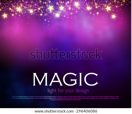 Abstract colorful blur background. Magic design. Dark mobile template. Vector illustration