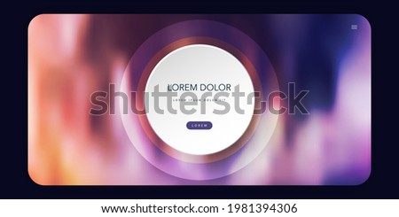 Abstract Colorful Blurred Header, Background or Landing Page, Multi Purpose Design Template - Vector Illustration