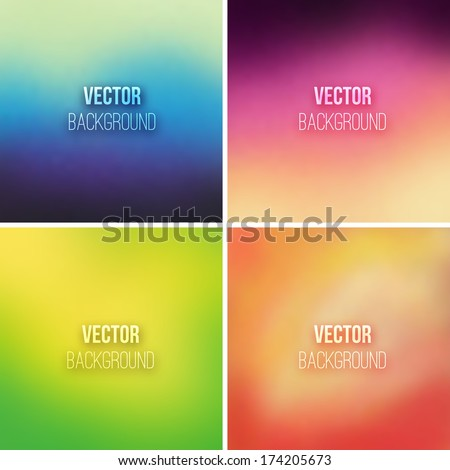 abstract colorful blurred