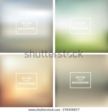 Abstract colorful blurred vector backgrounds Vector timeline template