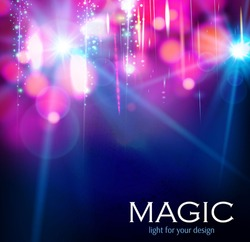 Abstract colorful bokeh & light background.  Vector illustration