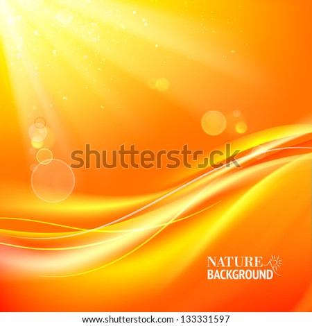 Abstract colorful bokeh on yellow background. Vector illustration, contains transparencies, gradients and effects.