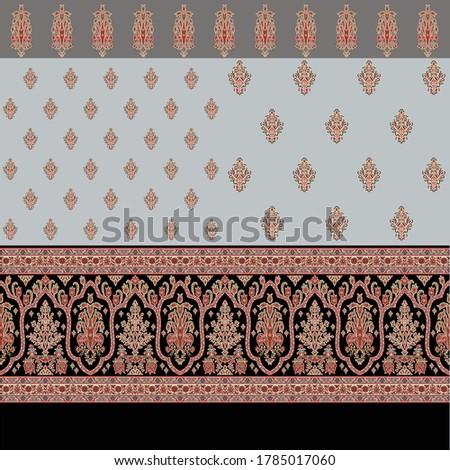 abstract  colorful border with small buti Zdjęcia stock ©