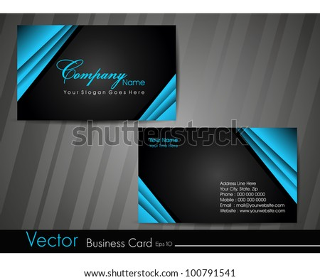 Black Business Card Template Vector Design Illustration Download - Business card templates designs