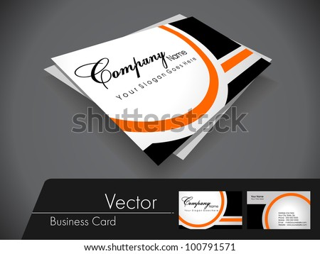 Cool Blue Business Card Template Vector - Professional business card template