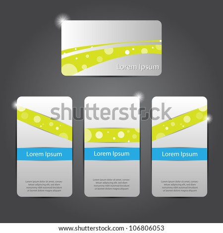 Abstract colorful bright color professional and designer business card template or visiting card set EPS 10 Vector illustration.
