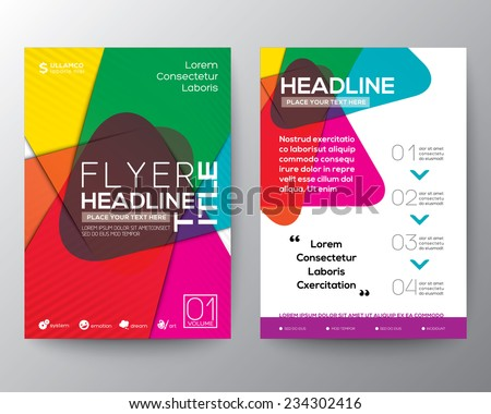 abstract colorful brochure