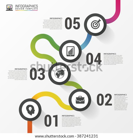 abstract colorful business path