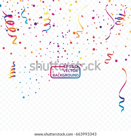 Abstract Colorful celebration background with confetti.
