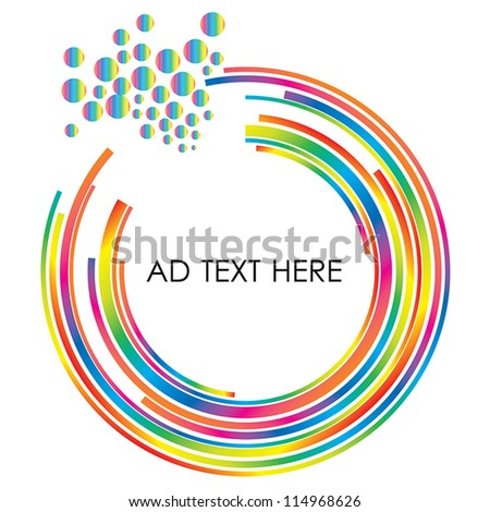 abstract colorful circle design and free space for your message. Vector Illustration  Eps10