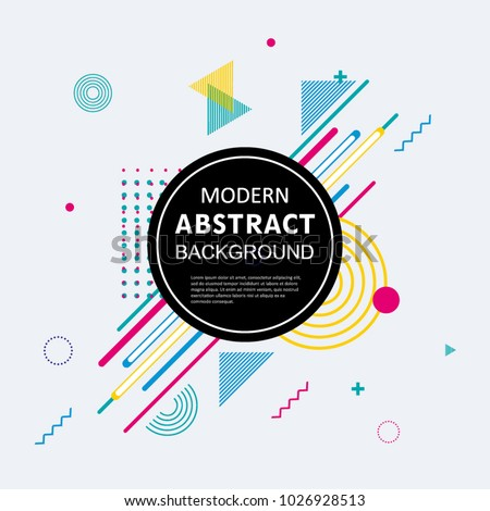 Abstract colorful circle geometric pattern design and background. Use for modern design, cover, poster, template, brochure, decorated, flyer.