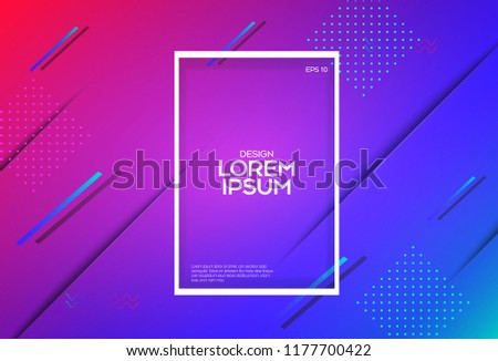 Abstract colorful circle geometric pattern design and background. Use for modern design.Futuristic design posters. Eps10 vector.