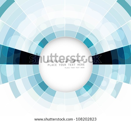 abstract colorful circle mosaic swirl composition vector