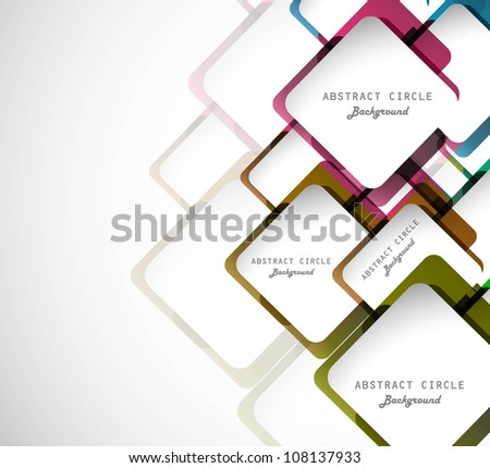 Abstract colorful circle vector design
