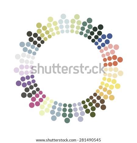 abstract colorful circle