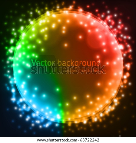 Abstract colorful circles vector background for design. eps 10