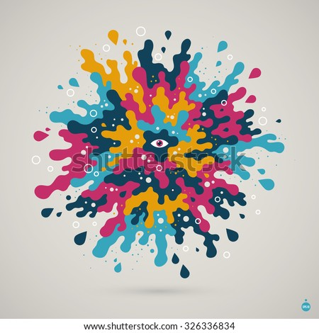 abstract colorful creature