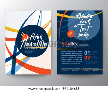 Abstract Colorful Curved Line shape Poster Brochure Flyer design Layout vector template in A4 size