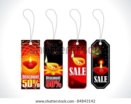 abstract colorful diwali tags multiple set vector illustration Stock photo ©
